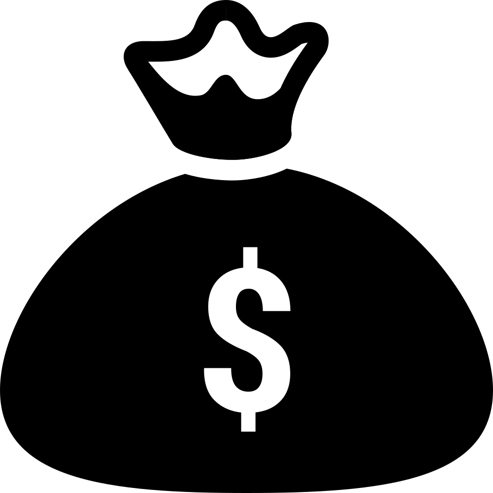 Money bag icon png. Svg free download onlinewebfonts