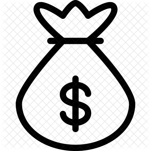 Money bag icon png. Business finance icons in