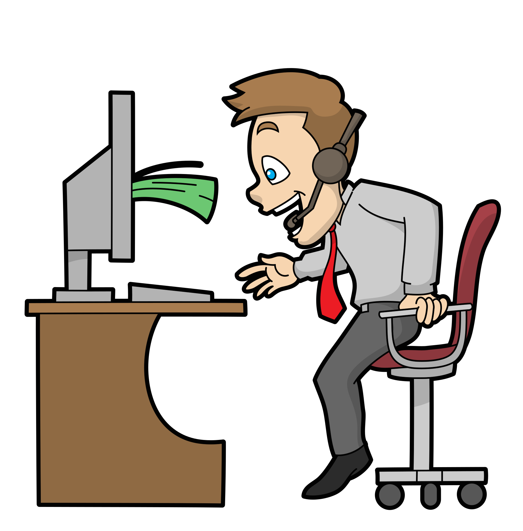 Money cartoon png. File call center guy