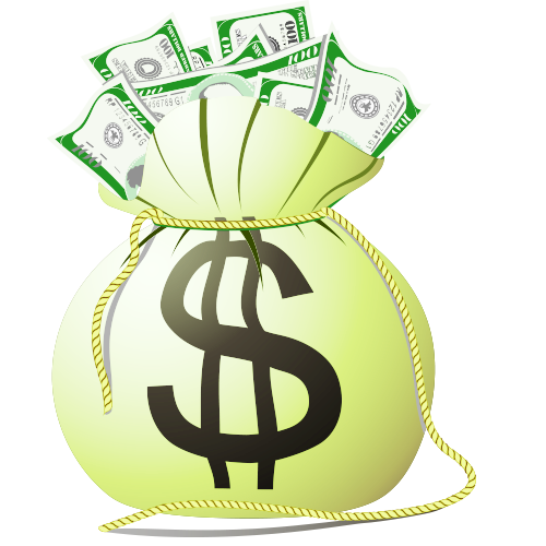 Money cartoon png. Bag purse transprent free