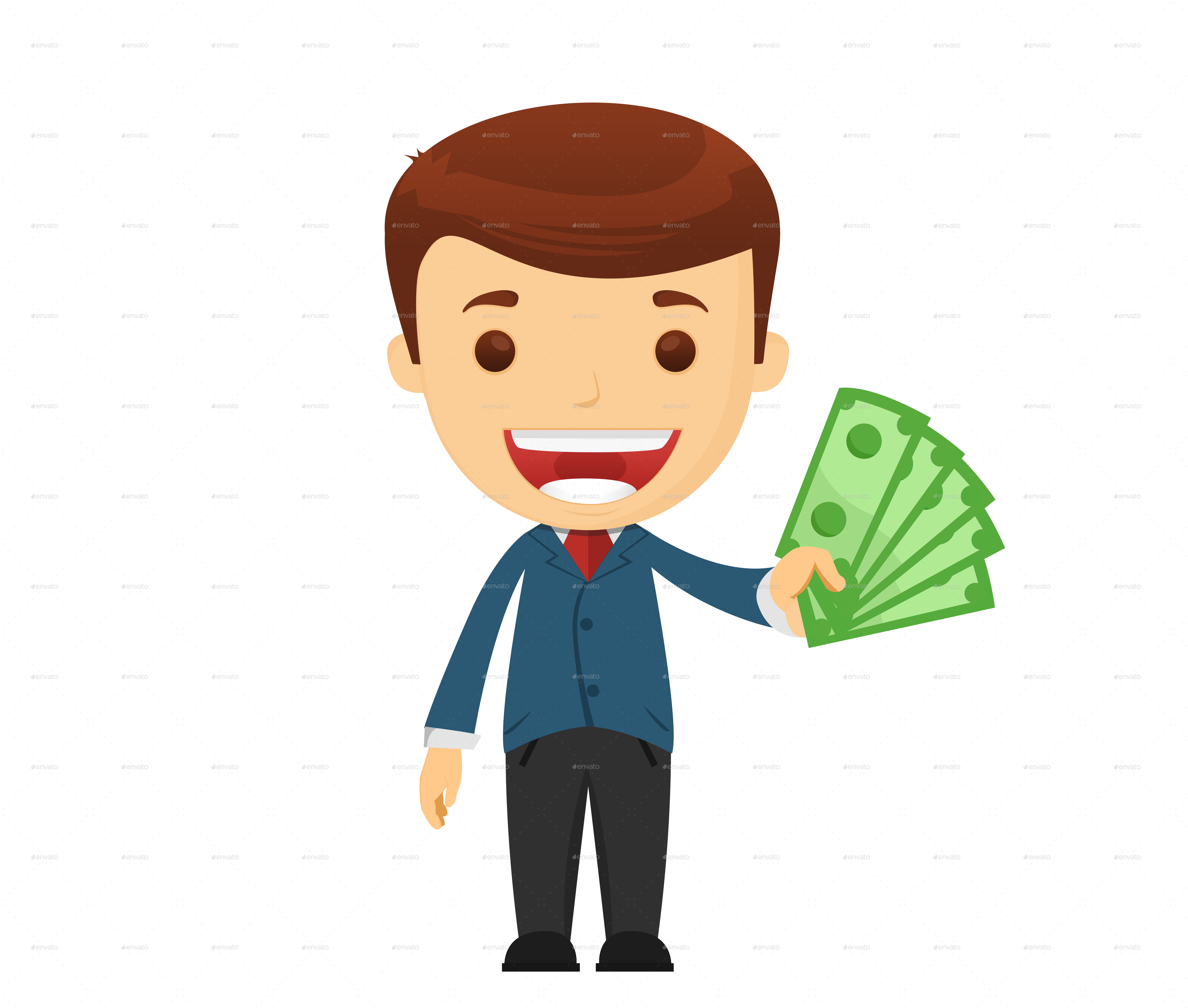 businessman clip art. Money cartoon png