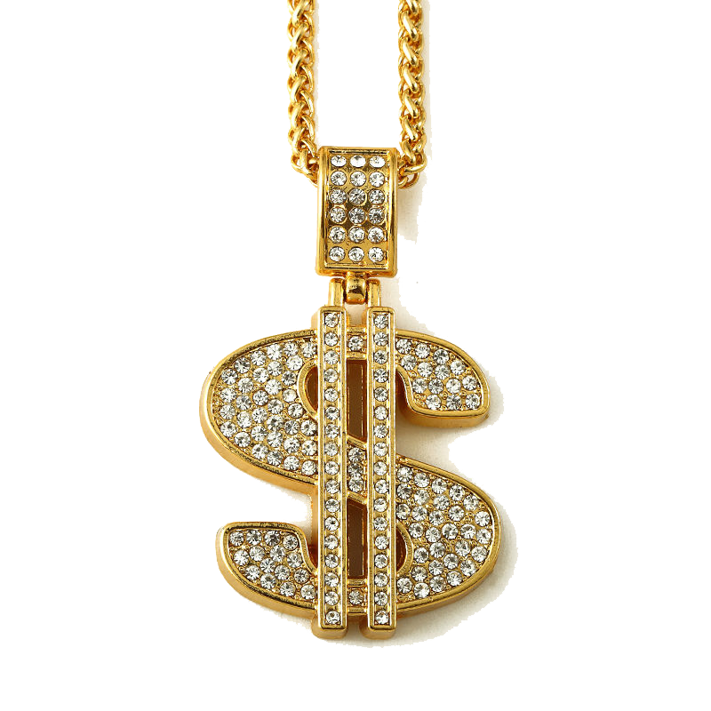 Money chain png.  gold dollar sign