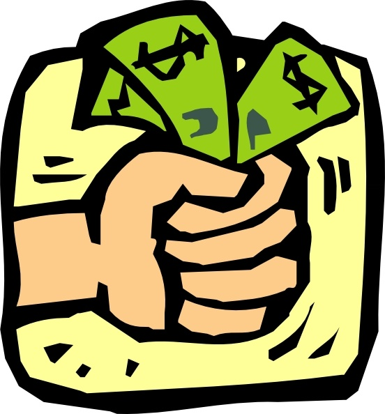 Money clipart. Fist full of clip