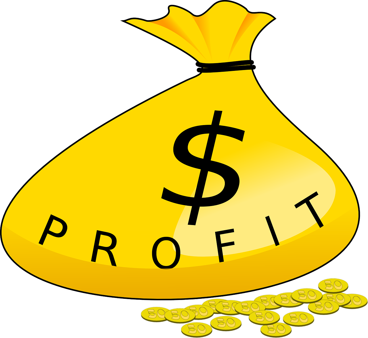 Do people make money. Market clipart animated