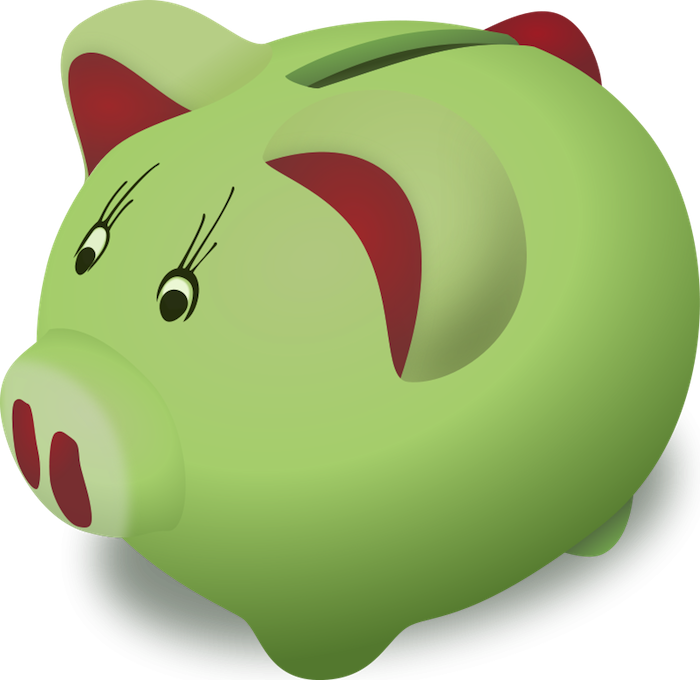 Free pig clipart animated. Money clip art cute