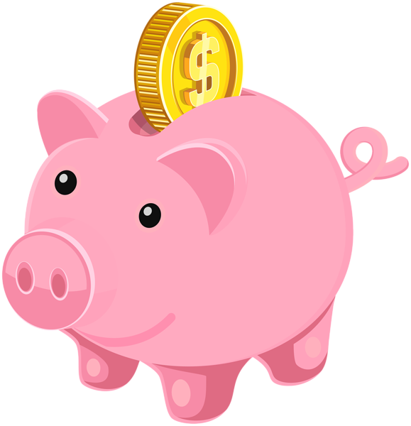 Money clip art cute. Piggy bank clipart clipartxtras