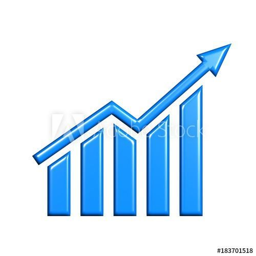 d business growth. Graph clipart financial graph