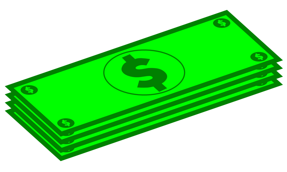 Public domain clip art. Money clipart green