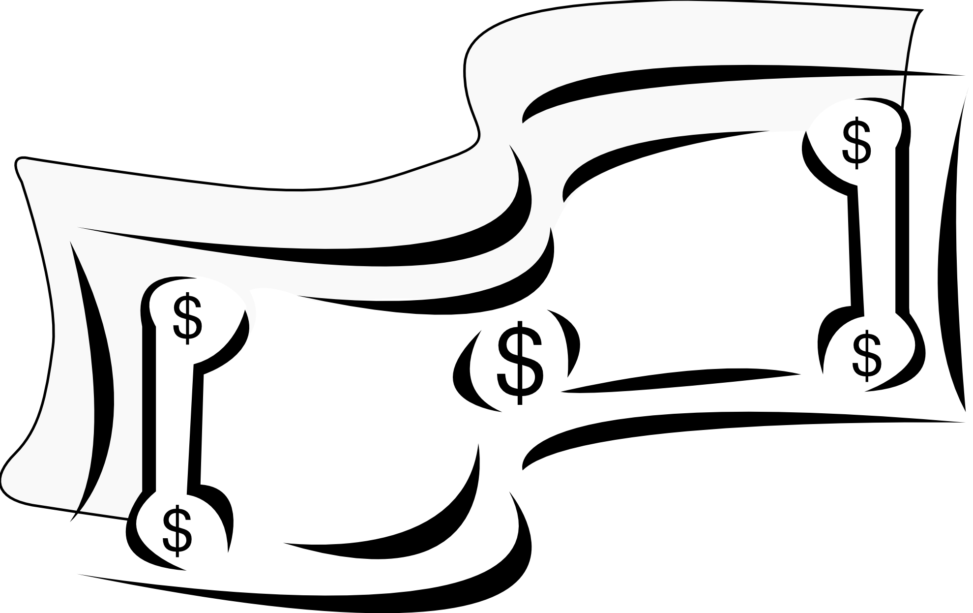 Dollars clipart powerpoint. Dollar sign black and