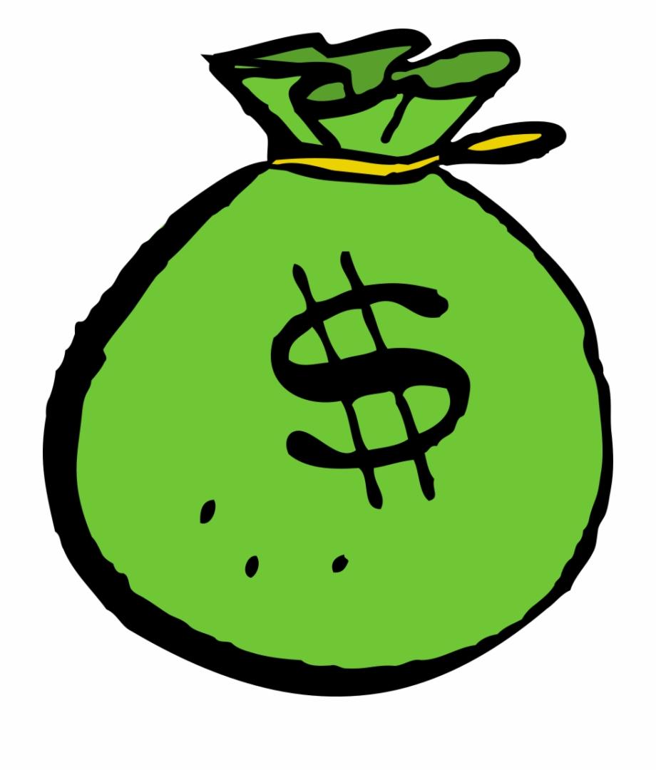 Green money bag pngtube. Finance clipart mone