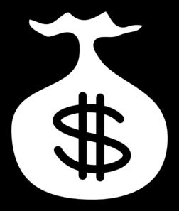 Bag at clker com. Money clip art outline