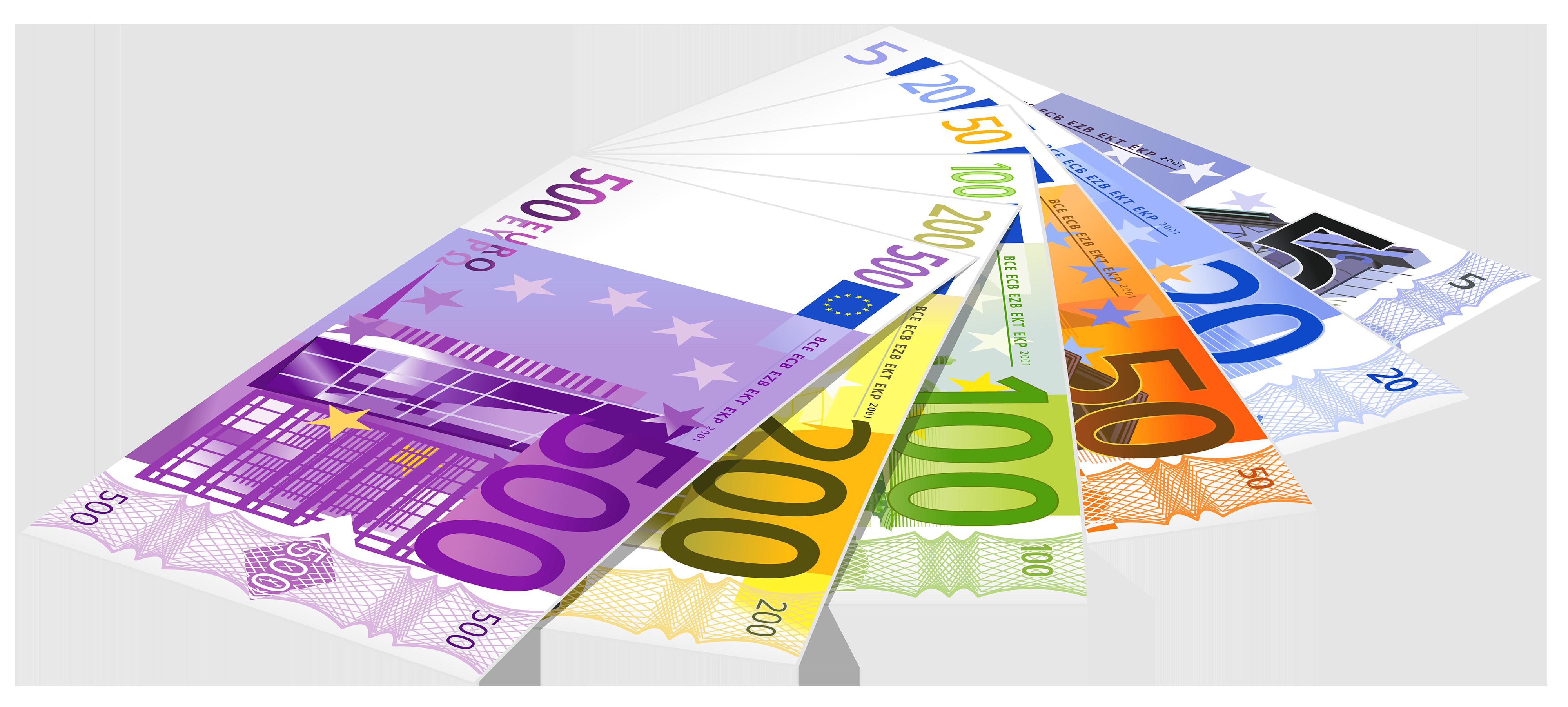 Euro banknotes png clipart. Money clip art paper money