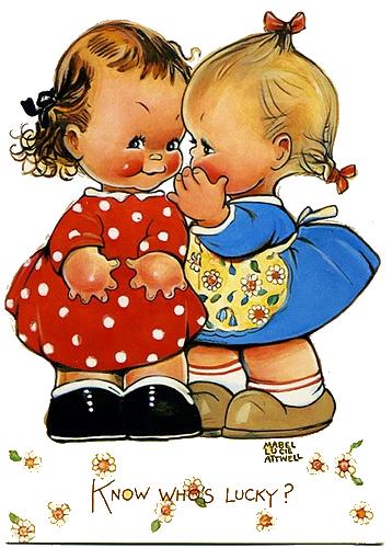 Money clip art retro. Vintage doll delights cute