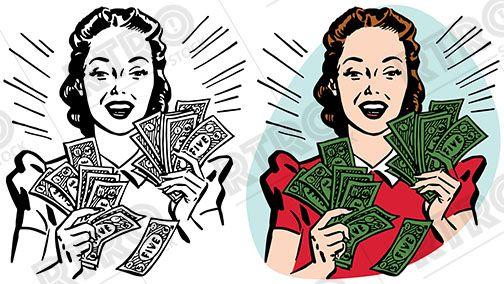 Money clip art retro. Pin on rtro
