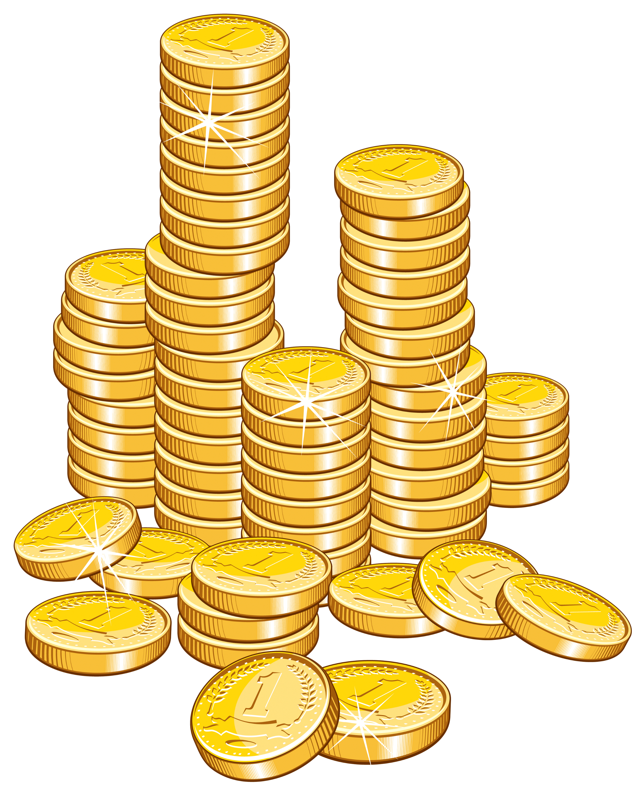 Coins stack png picture. Gold clipart coin