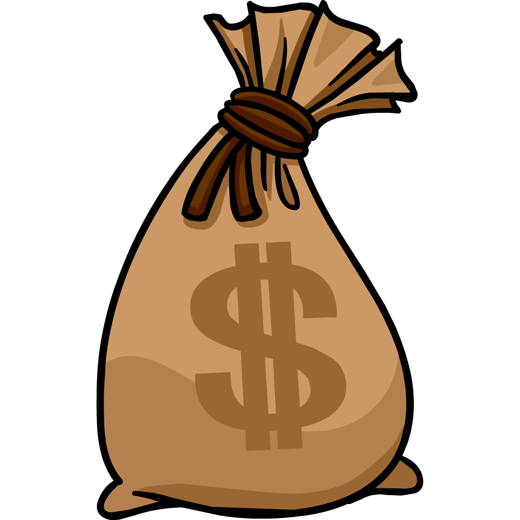 2 clipart transparent background. Money bag png images