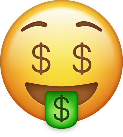Money clip art transparent background. Emoji png