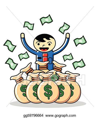Vector earning illustration gg. Money clipart earnings
