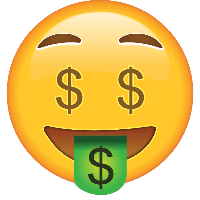 . Money emoji png