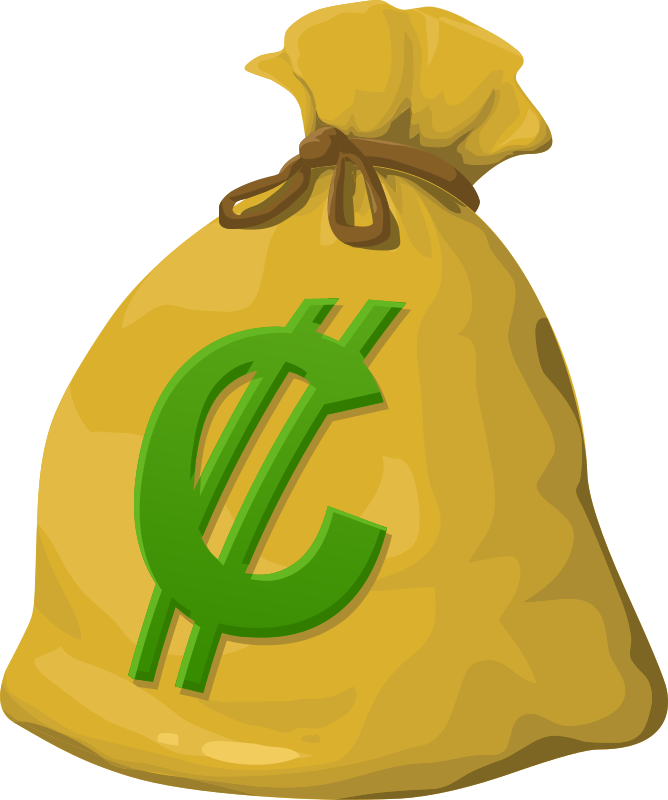 Money clipart green. Misc bag medium image