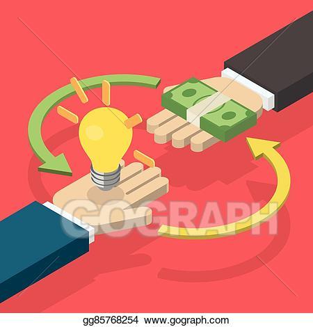 Vector art idea trading. Money clipart trade