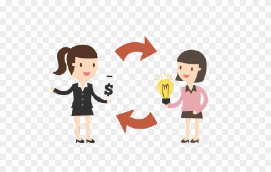 Negotiation phone call cartoon. Money clipart trade