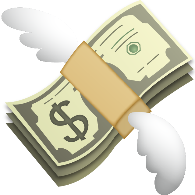 Money emoji png. Download with wings island