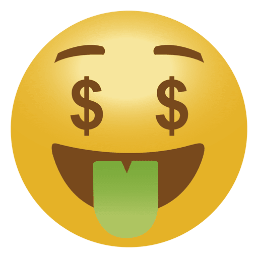 Emoticon transparent svg vector. Money emoji png