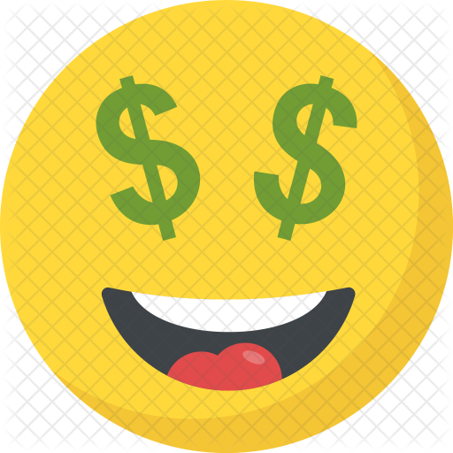 Money emoji png. Dollar eyes icon avatar