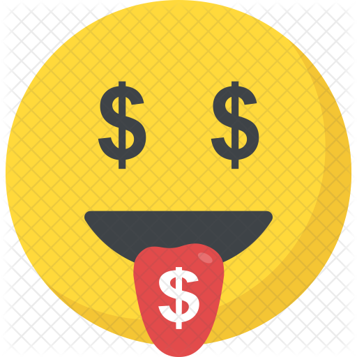 Money face emoji png. Mouth icon avatar smileys