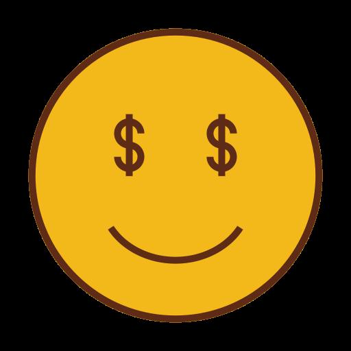 Money face emoji png. Dollar smiley emoticon icon