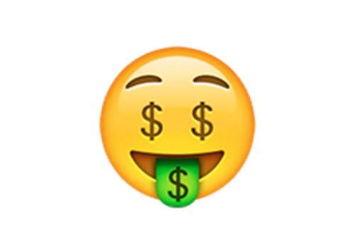 The best new iphone. Money face emoji png