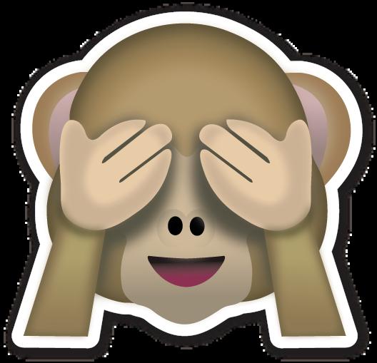 Money face emoji png. See no evil monkey