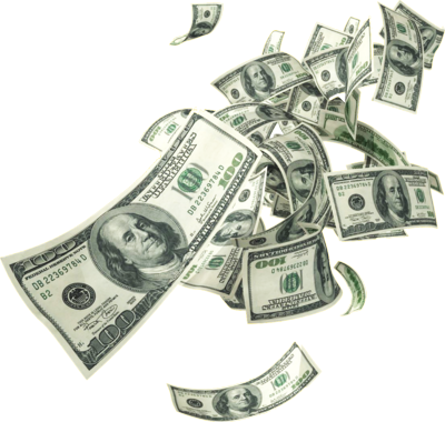 dollar bills for. Money falling from the sky png