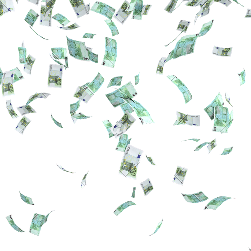 Money falling from the sky png.  for free download