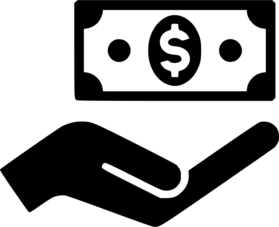 Money in hand png. Svg icon free download