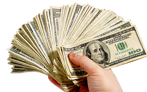 cash for free. Money in hand png