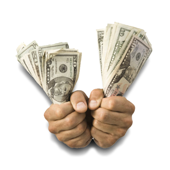 Money in hand png. Cash for cars get