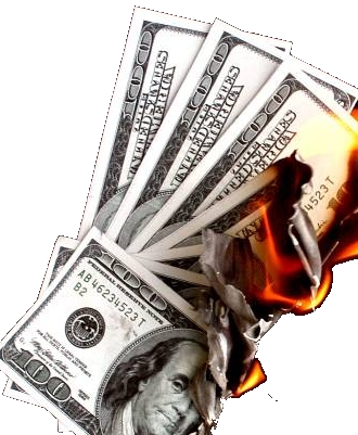 Forgetmenot paper in. Money on fire png
