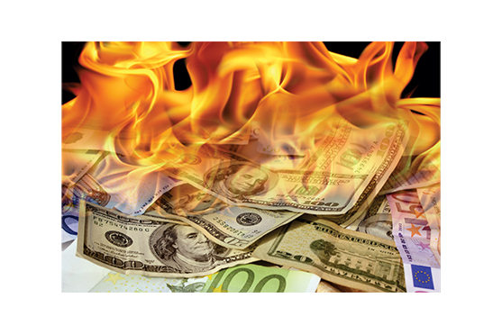 Money on fire png. Offline ad analytics ai