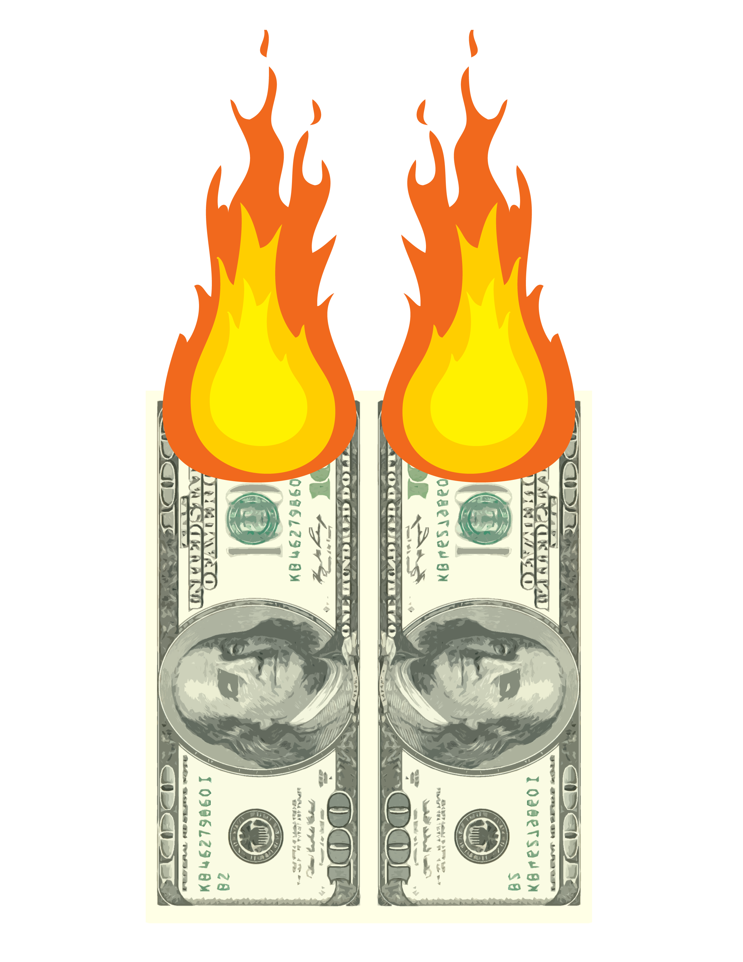 Money on fire png. Print the cw tampa