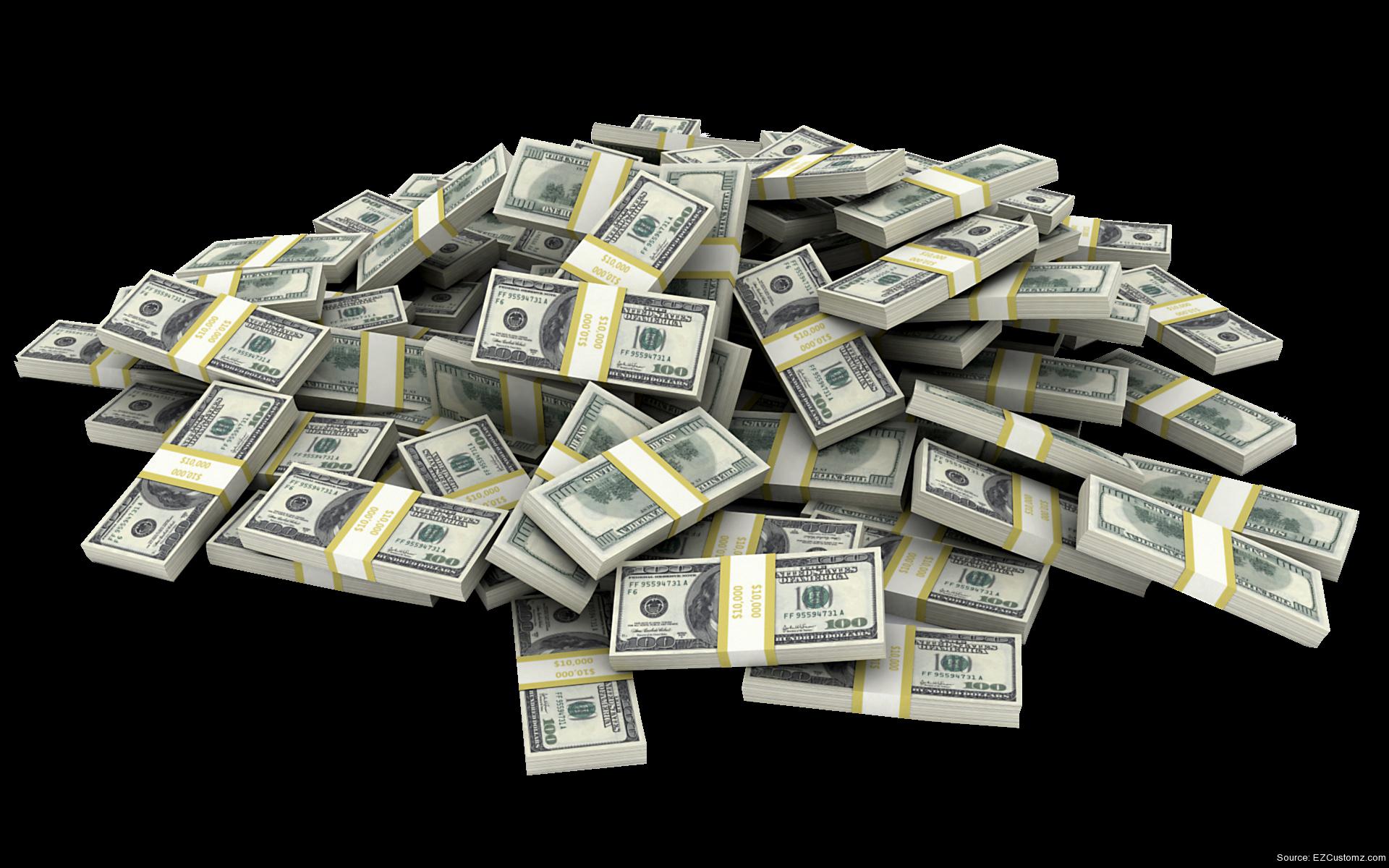 Ezcustomz stacks. Money pile png