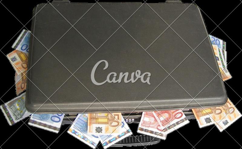Suitcase transparent photos by. Money pile png