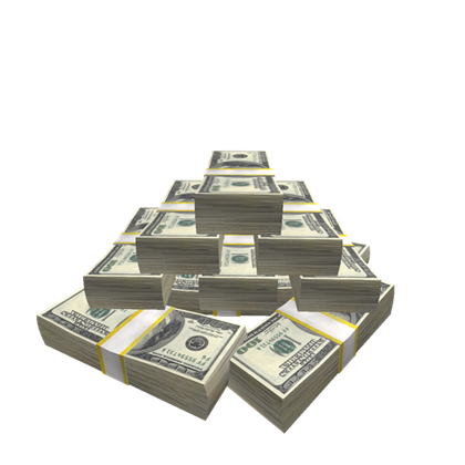 Money pile png.  cash stacks for