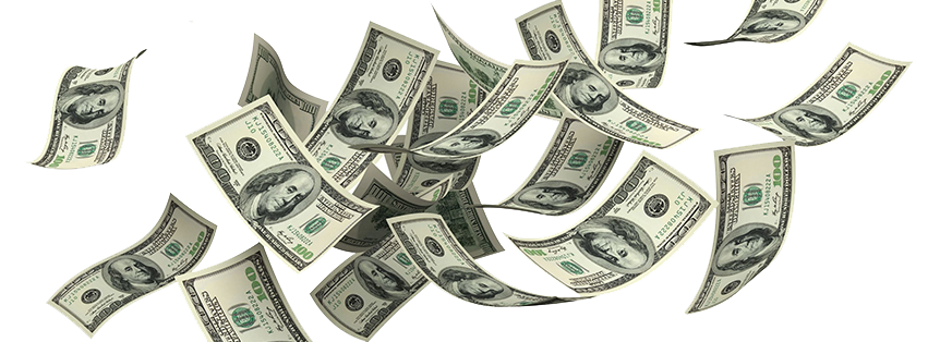 falling for free. Money png