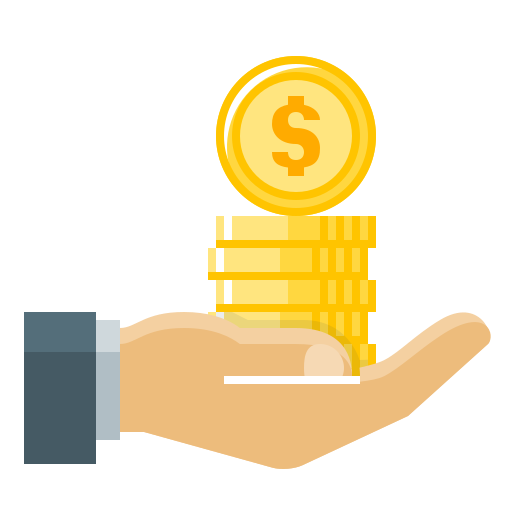 Finance loan business dollar. Money png icon
