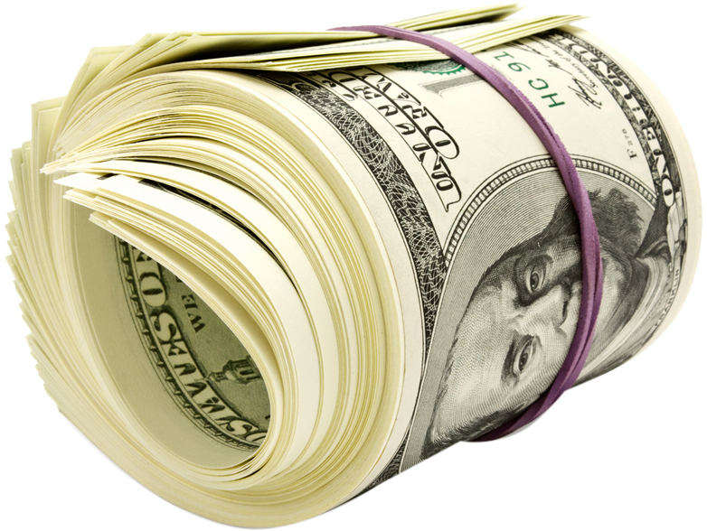 Money roll png. United states dollar one
