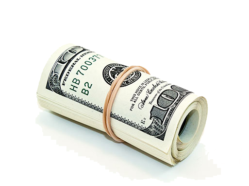 Refer a friend all. Money roll png