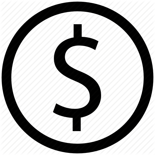 Project management by valley. Money sign icon png