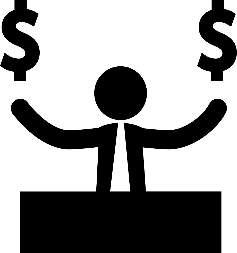 Money signs png. Businessman with dollar svg